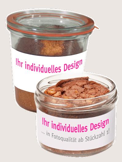 Kuchen im Glas individualisieren